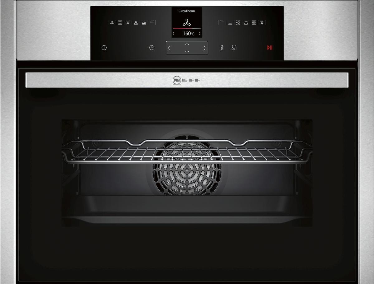 k chenbauer gmbh neff ccr2522n c25cr22n0 compact einbaubackofen f r nische 45cm m pyrolyse u. Black Bedroom Furniture Sets. Home Design Ideas